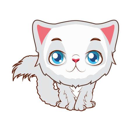 Illustration de dessin animé chat persan