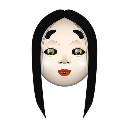 noh: Demon mask 1 with gradients