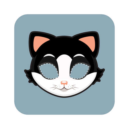 Cat mask for Halloween and other festivities Illustration