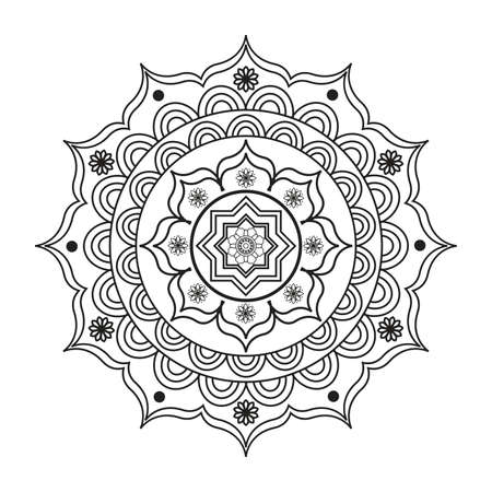 Diseños De Mandala Para Libros Para Colorear Adultos, Decoraciones ...
