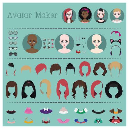 Woman avatar maker Illustration
