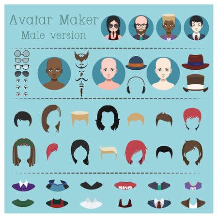 Male avatar maker Illustration