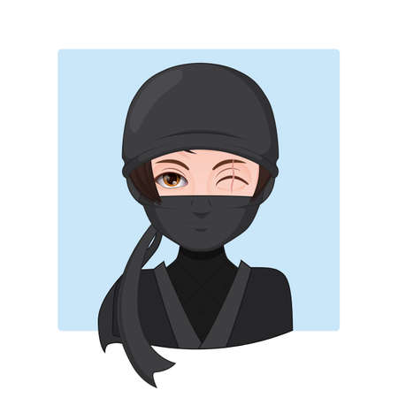Illustration of a ninja warrior Illustration