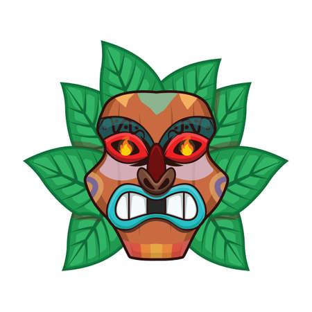 Angry tiki head Illustration
