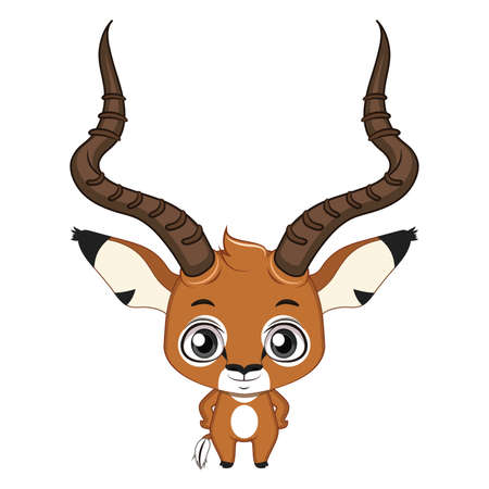 Cute stylized cartoon impala illustration ( for fun educational purposes, illustrations etc. )