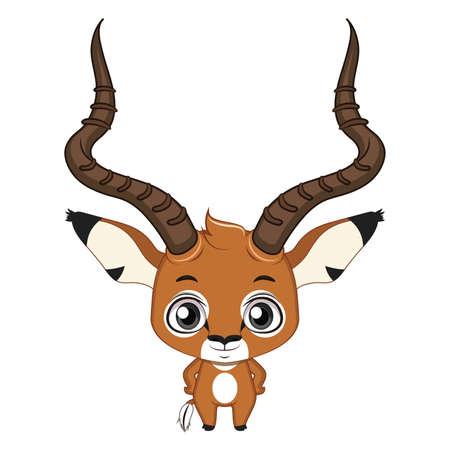 Cute stylized cartoon impala illustration ( for fun educational purposes, illustrations etc. )