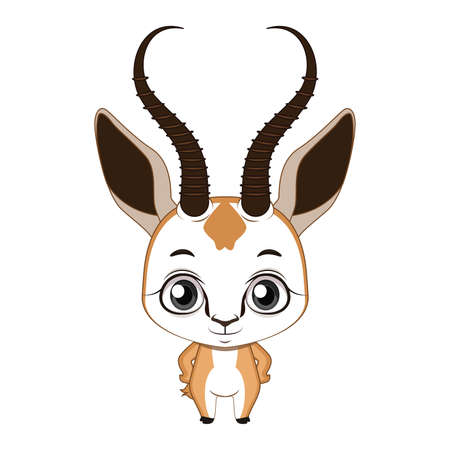 Cute stylized cartoon springbok illustration ( for fun educational purposes, illustrations etc. )