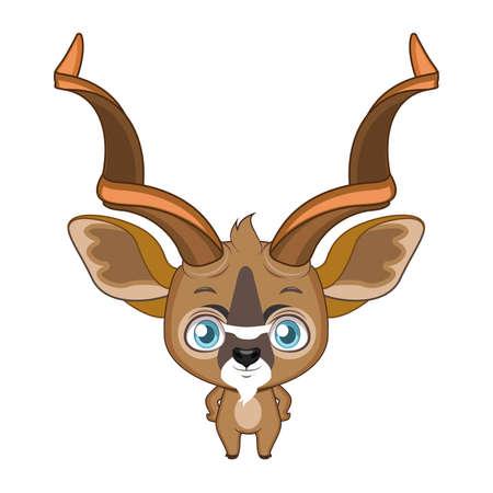 Cute stylized cartoon kudu illustration ( for fun educational purposes, illustrations etc. ) Illustration