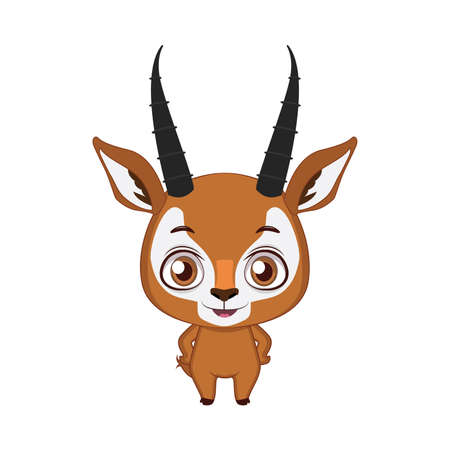 Cute stylized cartoon antelope illustration ( for fun educational purposes, illustrations etc. )