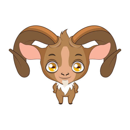 Cute stylized cartoon urial illustration ( for fun educational purposes, illustrations etc. ) Illustration
