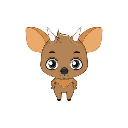 Cute stylized cartoon pudu illustration ( for fun educational purposes, illustrations etc. ) Illustration