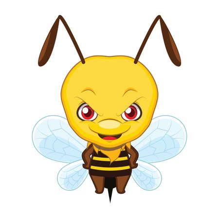 Cute stylized cartoon wasp illustration ( for fun educational purposes, illustrations etc. ) Illusztráció