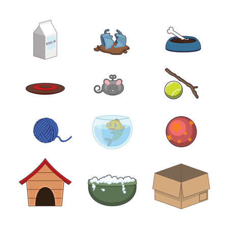 Collection of animal accessories