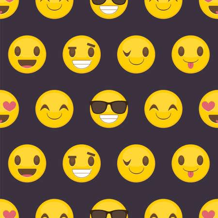 Fondo transparente con emoticonos felices positivos