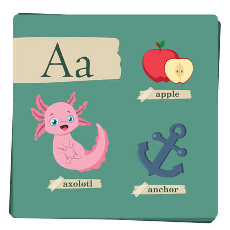Colorful alphabet for kids - Letter A