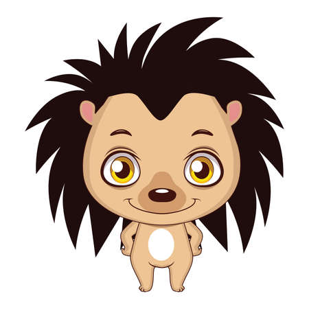 Cute stylized cartoon hedgehog illustration ( for fun educational purposes, illustrations etc. ) Illustration