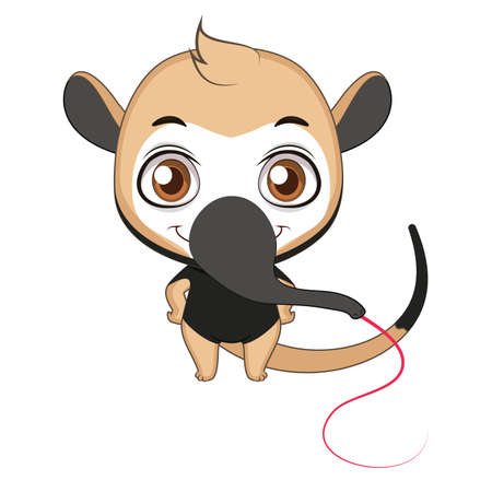 Cute stylized cartoon tamandua illustration ( for fun educational purposes, illustrations etc. ) 向量圖像