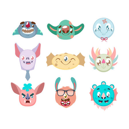 Imaginary monster portrait collection