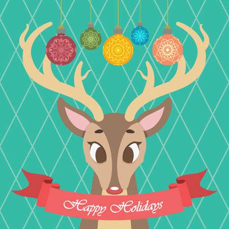 Lovely reindeer Christmas greeting