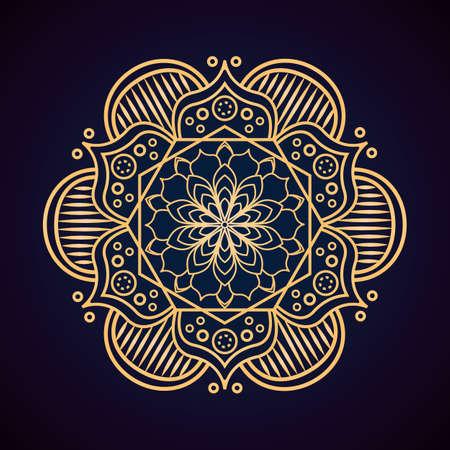 Ornamental mandala pattern on dark background