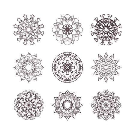 Collection of simple mandalas