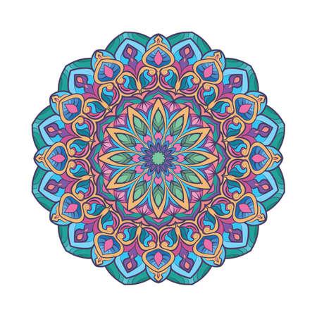 Multicolor boho mandala design