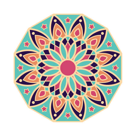 Beautiful mandala pattern design with pastel colors