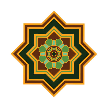 Colorful mandala pattern design Ilustração
