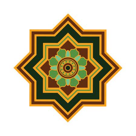 Colorful mandala pattern design Illustration