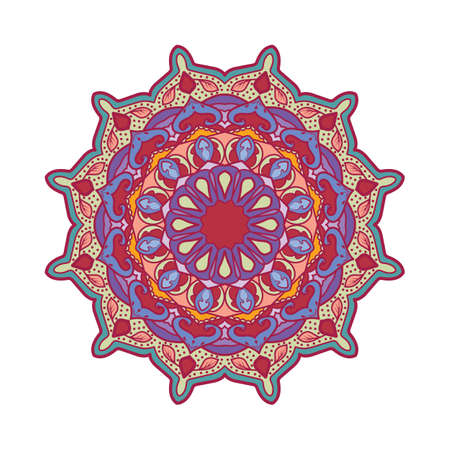 Multicolor mandala pattern design