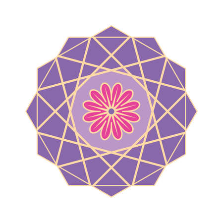 Purple colored geometrical mandala Illustration