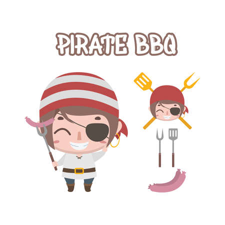 Pirate BBQ elements for businesses etc.