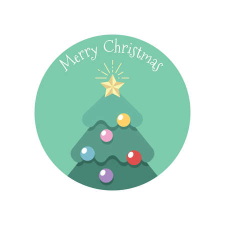 Simple stylized Christmas greeting