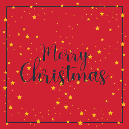 Simple Christmas greeting with a red background Illustration
