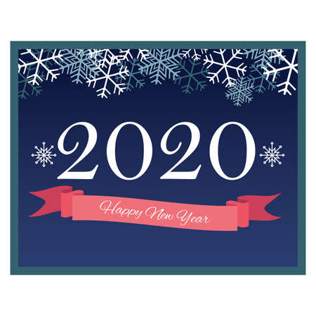 Happy New Year greeting for 2020