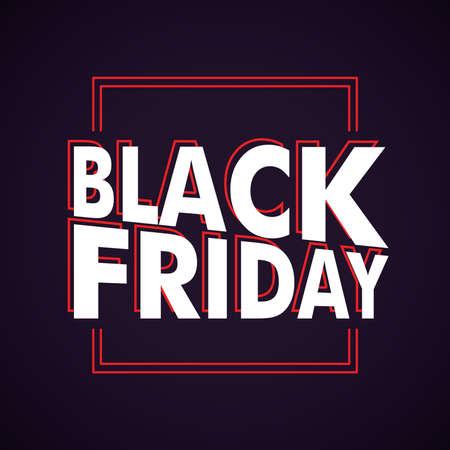 Black Friday text design