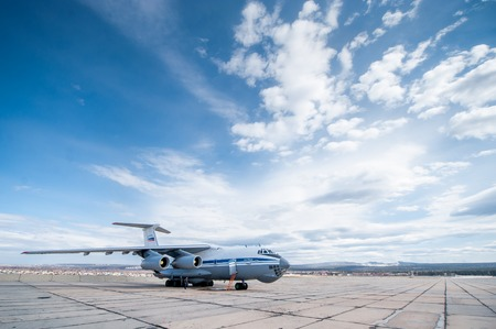turbofan: Old Soviet cargo plane IL-76 is a multi-purpose four-engine turbofan strategic airlifter