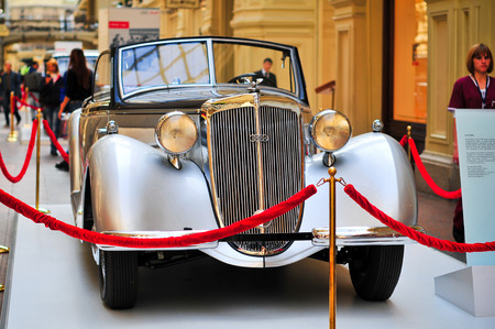 museum rally: MOSCOW, RUSSIA - September, 2010: German motor car Horch 853 exhibited in GYM. Editorial