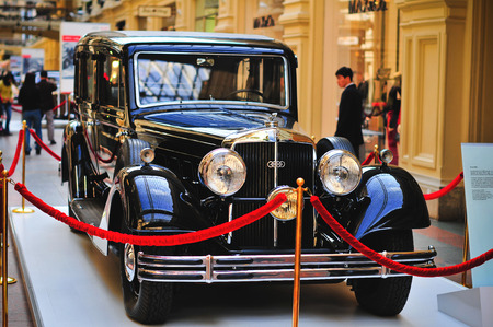 bl: Moscow, RUSSIA - September 2010: A German car Horch 830 BL Pulman Limousine exhibited in GYM, Moscow