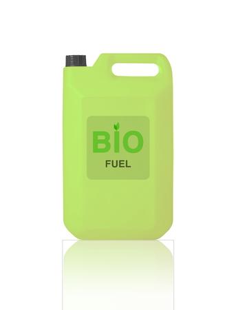 hydrocarbon: Green Gallon of bio fuel, environment conceptual design. Stock Photo