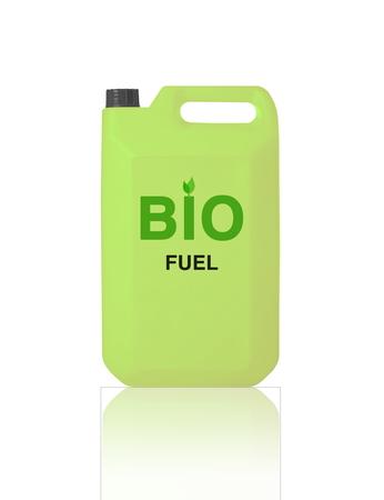 bio fuel: Green Gallon of bio fuel, environment conceptual design. Stock Photo