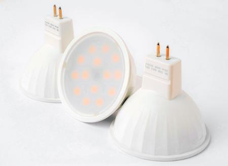 medium group of object: Close-up photo of a LED lamp. Bulb.