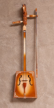 mongolia horse: Souvenir. Wooden layout traditional Mongolian musical instrument Stock Photo