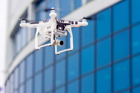 hovering: Hovering drone that takes pictures of city sights