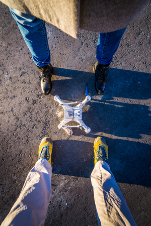 risky innovation: A drone that crashed during a flight
