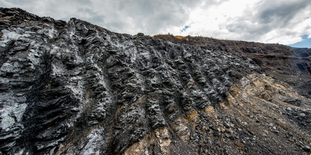 open pit: View upon a coal open pit in russia Stock Photo