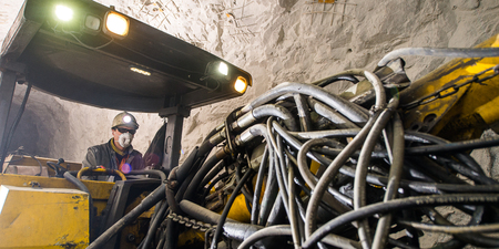 gold mining: Gold mining underground. Drilling and explosive works.