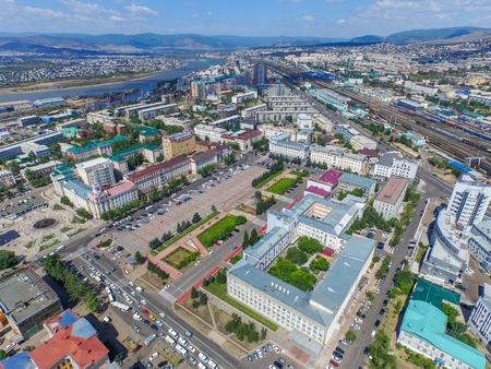 buryatia: Ulan-ude, Russia - August 02, 2015: Ulan-Ude city a capital in buryatia at summer