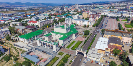 Ulan-ude, Russia - August 02, 2015: Ulan-Ude city a capital in buryatia at summer