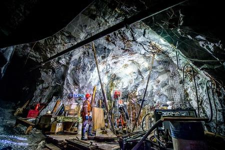 Or l'exploitation minière souterraine